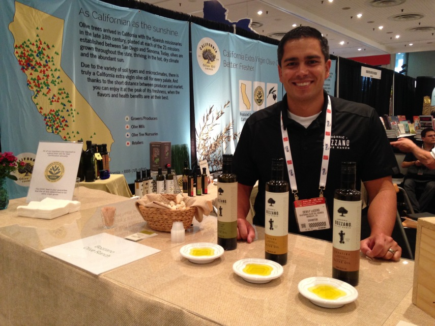 At the New York Fancy Food Show 2015 representing Bozzano Olive Ranch